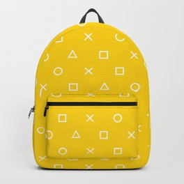 Yellow Gamer Pattern Backpack