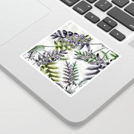 Vintage Ferns Sticker