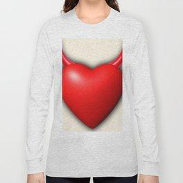 Heart Series Love Red Devil Horns Love Valentine Anniversary Birthday Romance Sexy Red Hearts Valent Long Sleeve T-shirt
