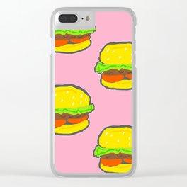 Yogurt Burger Pattern Clear iPhone Case