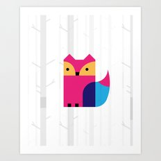 THE MISSING SCARF - Fox Art Print