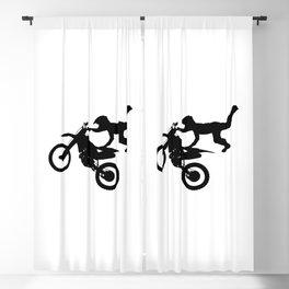 Motocross High Flying Jump Blackout Curtain