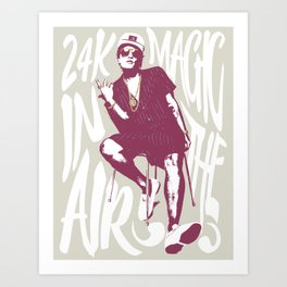 24k magic Art Print