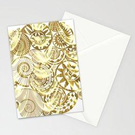 Ammonite Gold Stationery Cards