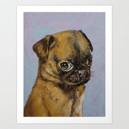 Pug Puppy Art Print
