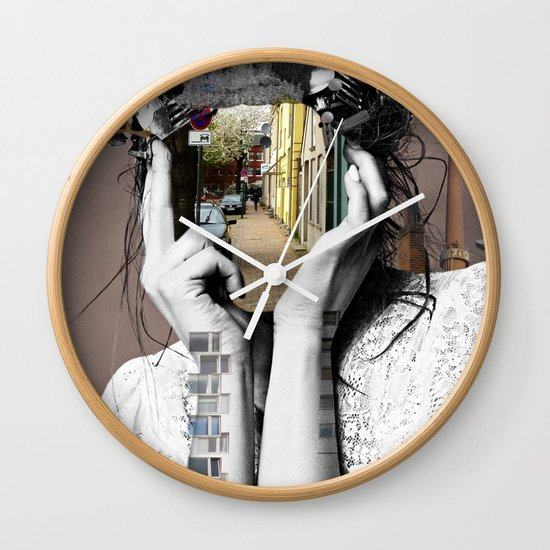 Crazy Woman - Lara Lisa Bella Wall Clock