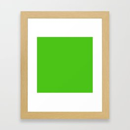 Solid Bright Onion Green Color Framed Art Print