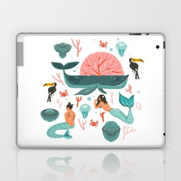Mermaids summer Laptop & iPad Skin