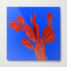 Minimal cactus Metal Print