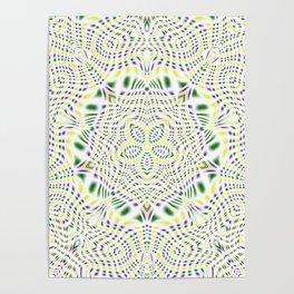 Yellow, Green, Purple Kaleidoscope Poster