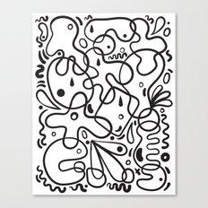 Black & White Blobs Canvas Print