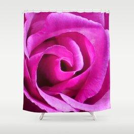 Fuschia Rose Shower Curtain
