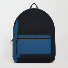 Blue and red composition XXII Backpack