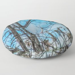 The Rose in the Tree Floor Pillow