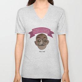 Gandhi mahatma quotes Unisex V-Neck