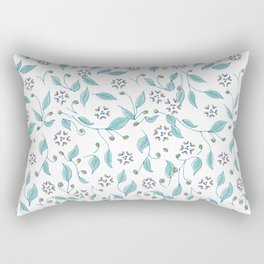 Blooming Hearts Flower Pattern Rectangular Pillow