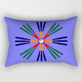 Baseball Bat and Ball Design 2 Rectangular Pillow