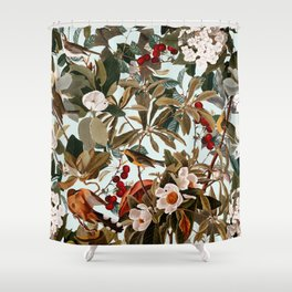 Floral and Birds XXVII Shower Curtain