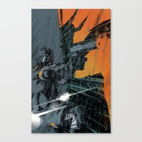 metal gear Canvas Prints featuring METAL GEAR Ground Zeroes by Toni Infante