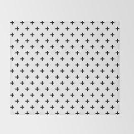 Black Swiss Cross Throw Blanket