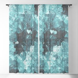 Crystal Geode Abstract Sheer Curtain