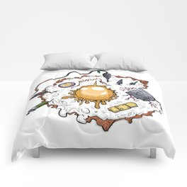 Special Fried Eggs Comforters