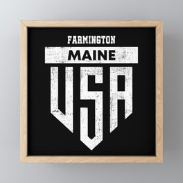 Farmington Maine Framed Mini Art Print