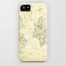 Vintage World Map Print iPhone Case