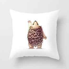 Cute hedgehog. Vector graphic character Throw Pillow