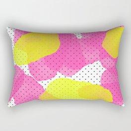 Sarah's Flowers - Abstract Watercolor on Polka Dots Rectangular Pillow