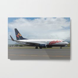 Aloha Airlines 737-700 at Maui Metal Print