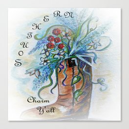 Southern Charm Y'all Canvas Print