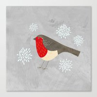 robin Canvas Prints featuring Robin by Nic Squirrell