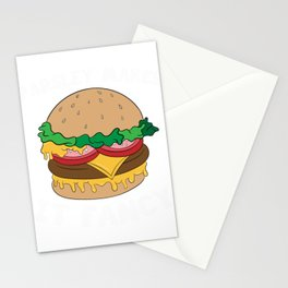 """""""Parsley Makes It Fancy"""" Delicious Burger Hamburger T-shirt Design Patty Buns Grilled Charcoal Stationery Cards"""