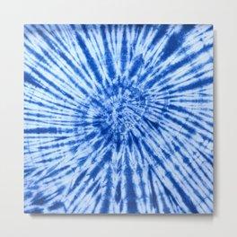 tye dye 10 (blue) Metal Print