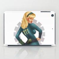fallout iPad Cases featuring Fallout girl by JuliaTara