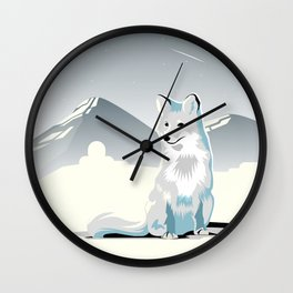 Artic Fox Wall Clock