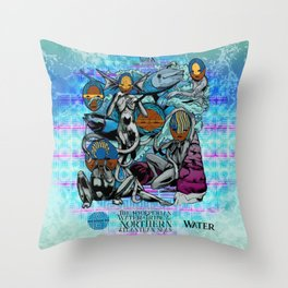 Mysticx & Magick: The Hyoeperian Water Tribe of The Northern Atlantean Seas Throw Pillow