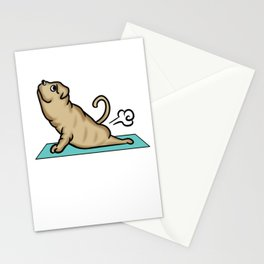 Shar Pei Yoga Pose Stationery Cards