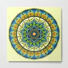 Vibrant colors mandala Metal Print