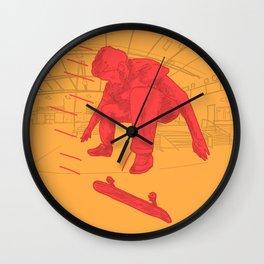 25 mph Fakie Flip Wall Clock