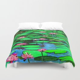 Homage to Ponds, Lilies and Lily Pads Duvet Cover