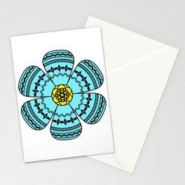 Hippie Geometric Flower Stationery Cards