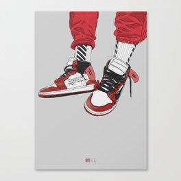 Off White Jordan 1 Canvas Print
