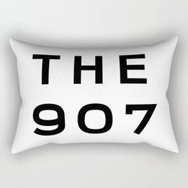 907 Alaska Area Code Typography Rectangular Pillow