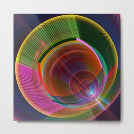 Colourful geometric abstract Metal Print