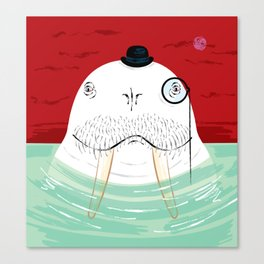 Sir Wilfred Wallace, The Wonderful Walrus Canvas Print