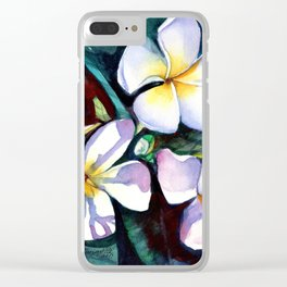 Evening Plumeia Clear iPhone Case