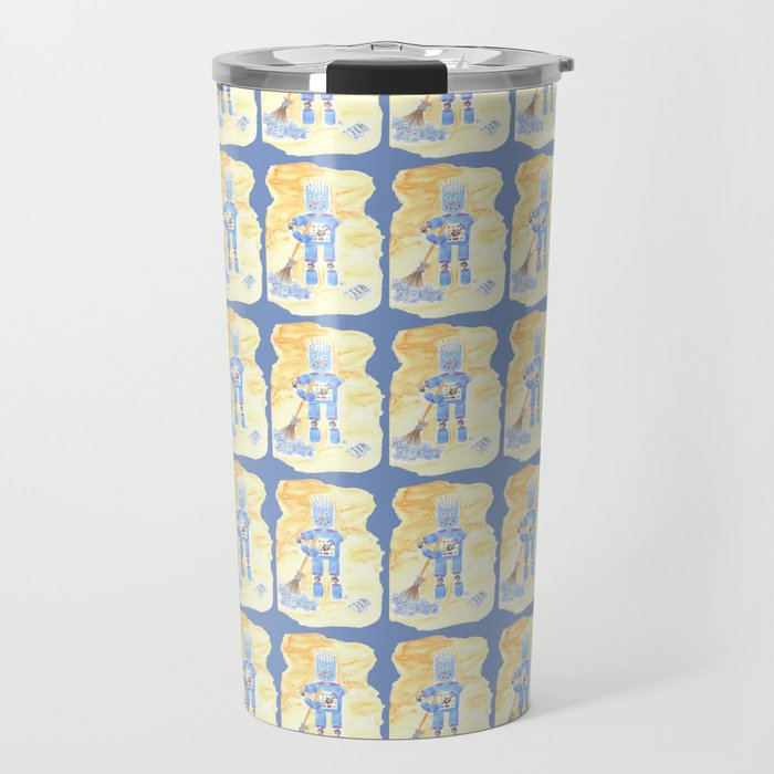 Blue Robot Travel Mug
