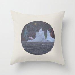 The Lonely Polarcorn Throw Pillow